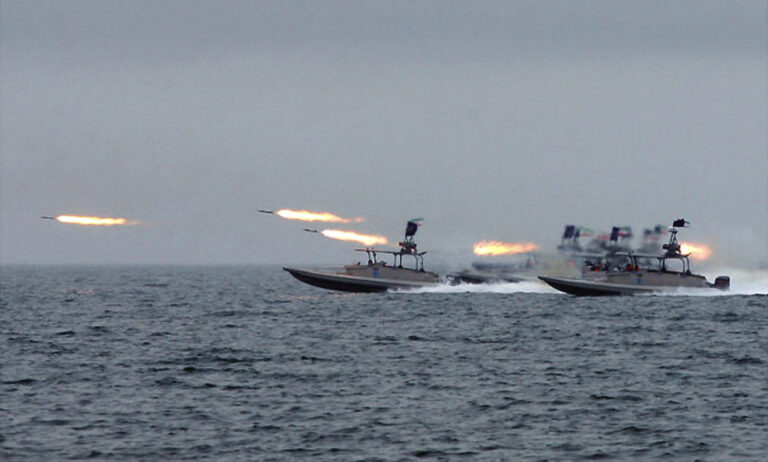 Iran's Revolutionary Guard Navy inaugurates a new naval base in the Strait of Hormuz
