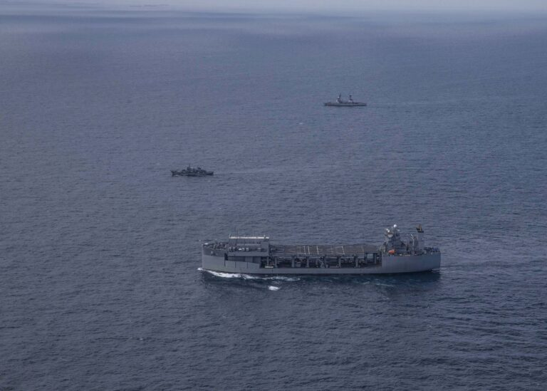 U.S. Navy's ESB Conducts Maneuvering Exercise with Nigerian Navy