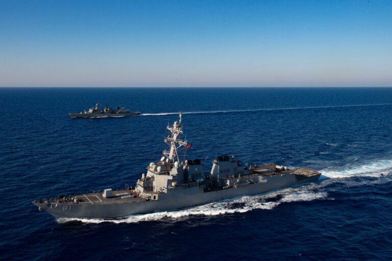USS Winston S. Churchill commemorates USS Cole in the Gulf of Aden