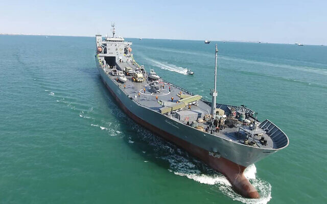 Iran's Revolutionary Guard launches multipurpose carrier ship