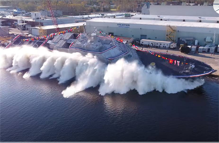 fincantieri marinette marine launches uss marinette freedom class littoral combat for us navy 925 001 - naval post- naval news and information