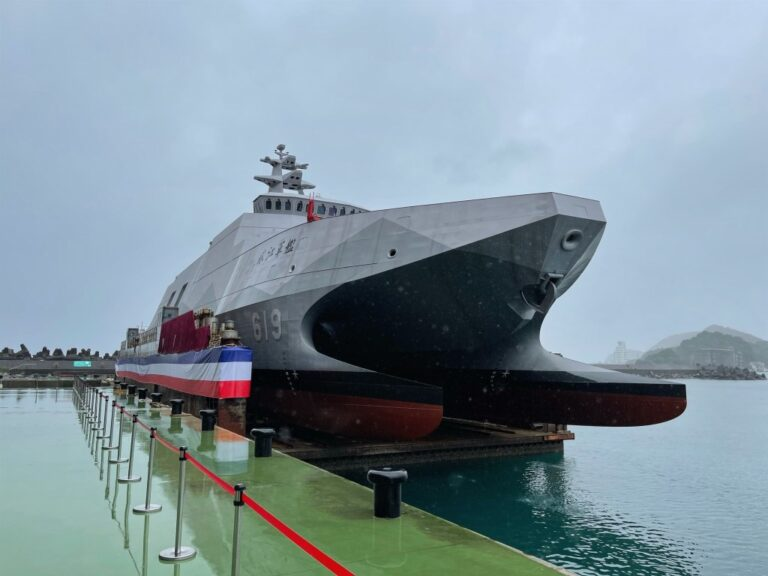 Taiwanese Navy launches first Tuo Chiang-class corvette