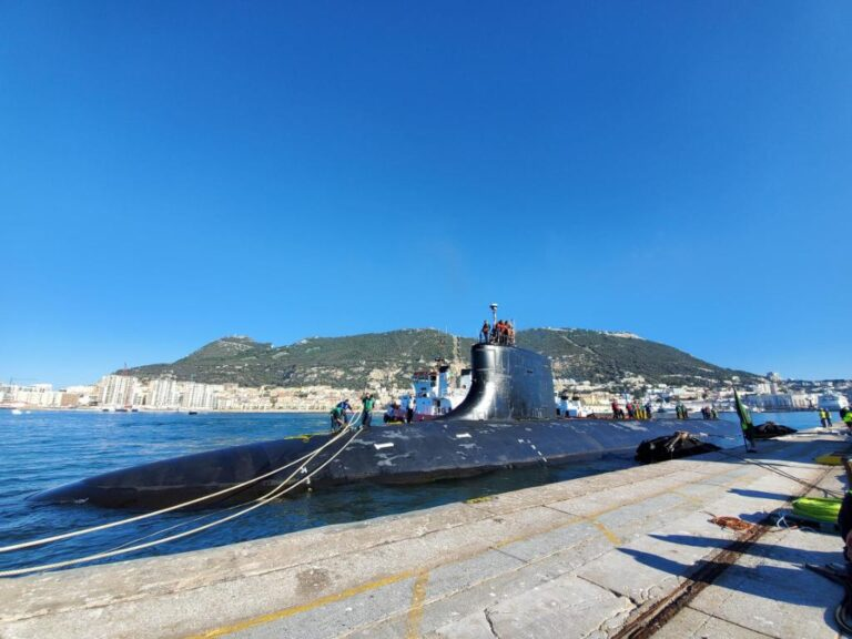 U.S. Navy's attack submarine visits Gibraltar
