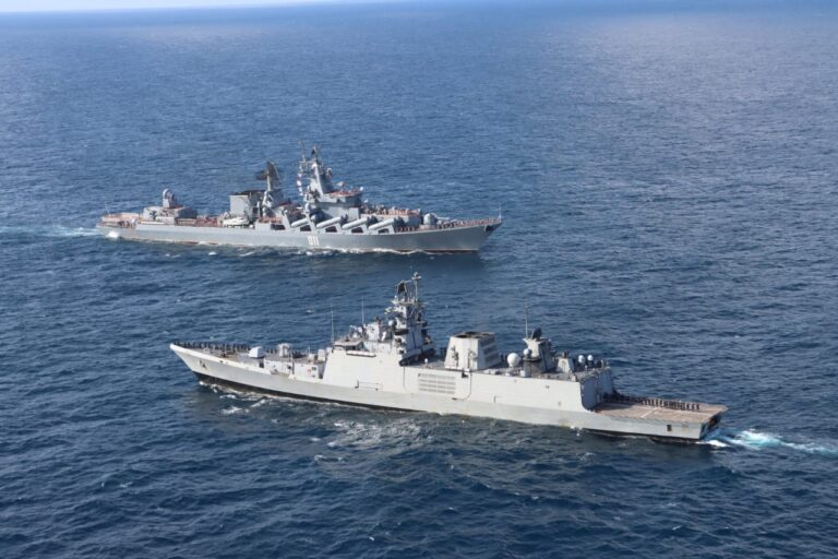 Russian Navy conducts PASSEX with Indian Navy
