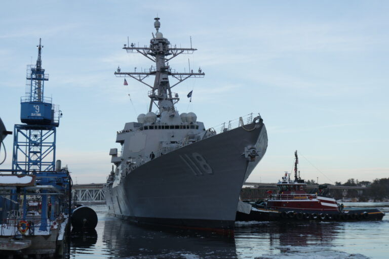 The latest Arleigh Burke-class Destroyer DDG-118 begins sea trials