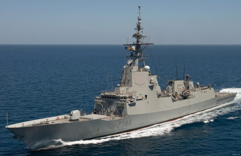 NATO maritime assets hold air defence drills with Italian Jets in the Mediterranean Sea