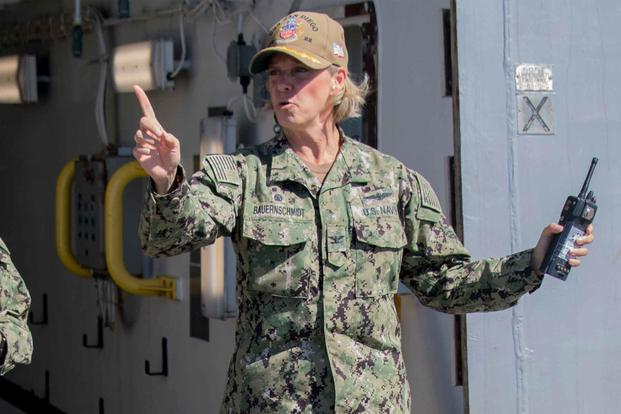 Capt. Amy Bauernschmidt would be the first Aircraft Carrier captain of the U.S. Navy
