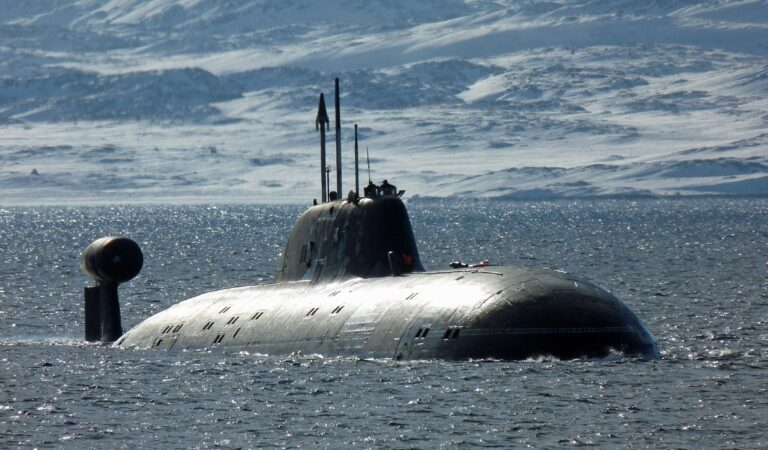 Russian Akula-class submarine floats out after the upgrade