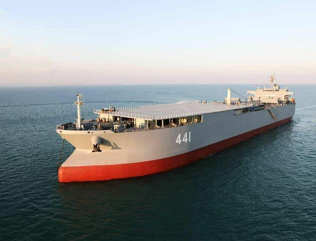 Iranian Navy commissions Makran base ship and 5th Sina-class FAC