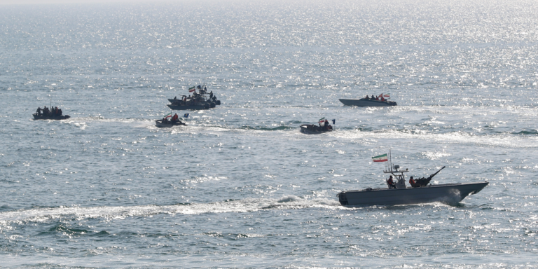 Iran makes power demonstration with a naval parade in the Persian Gulf