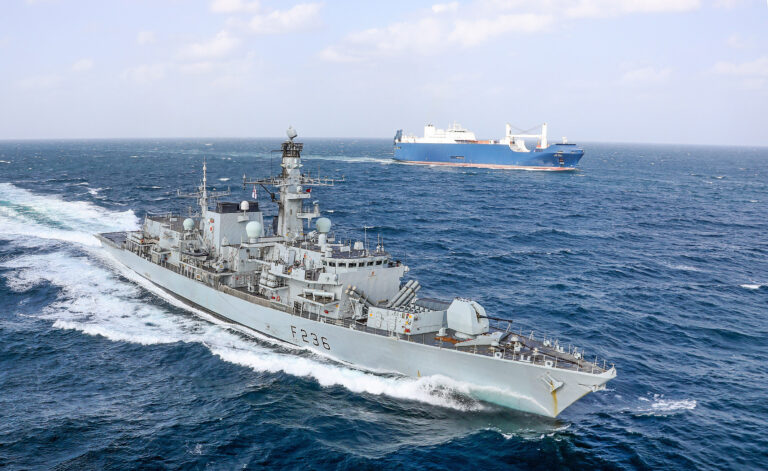 The maintenance of HMS Montrose is completed in Oman