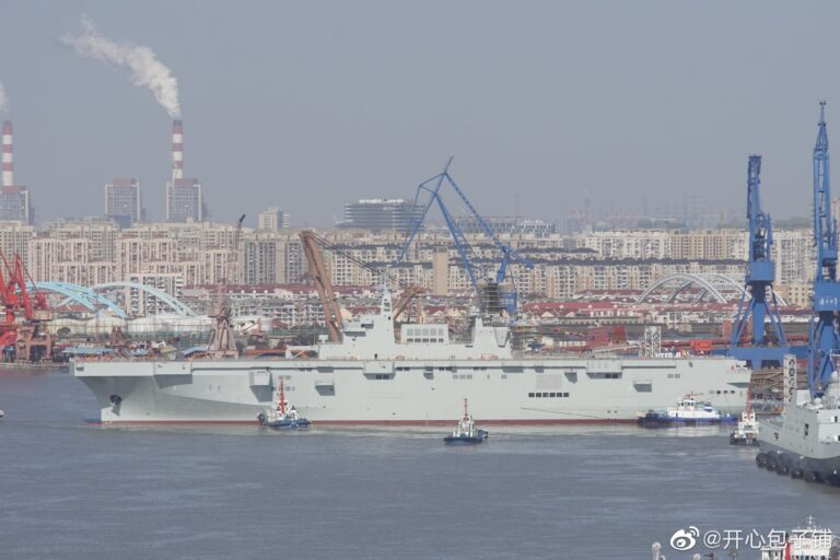 China launches third Type 075 Amphibious Assault Ship