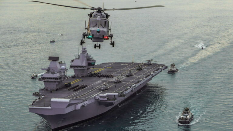 HMS Queen Elizabeth takes flagship role of the Royal Navy