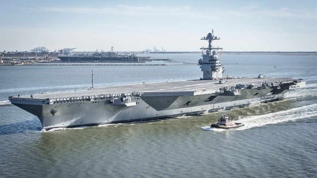 uss gerald r. ford cvn 78 underway on 8 april 2017 - naval post- naval news and information