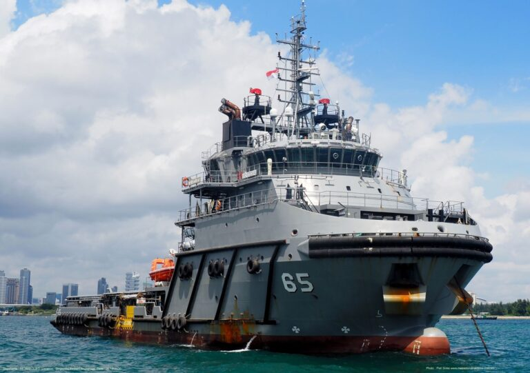 The Chilean Navy's New Support Vessel, Janequeo,  arrives in Valparaíso