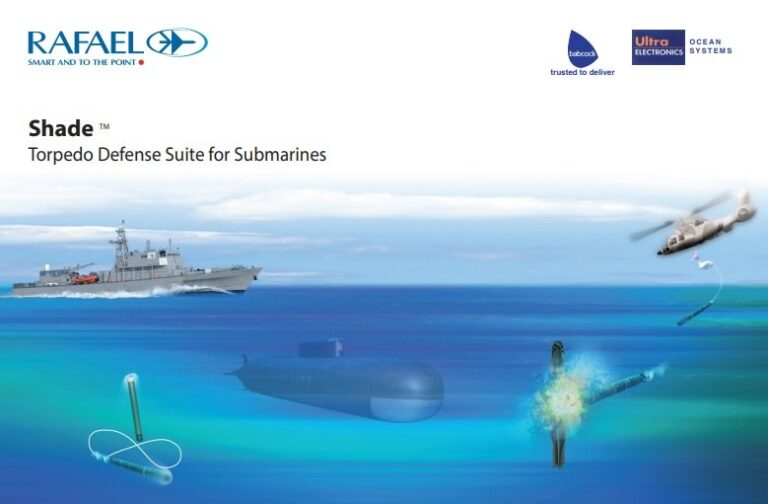 Rafael and BDL to equip Indian subs with SHADE torpedo defense system