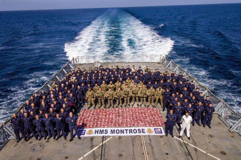 hms montrose drug interdiction helo platform - naval post- naval news and information