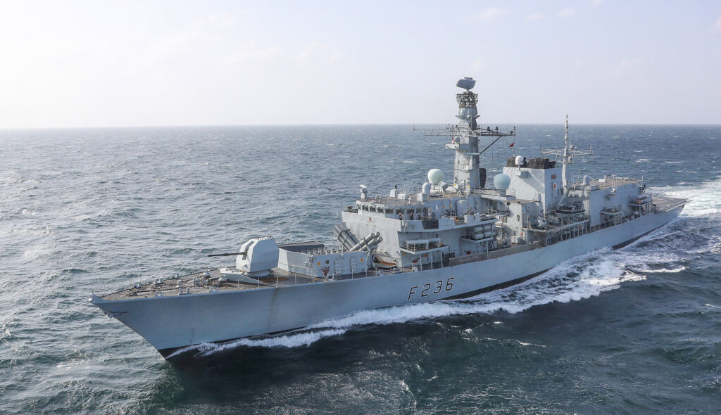 HMS Montrose at sea in the Gulf - Naval Post