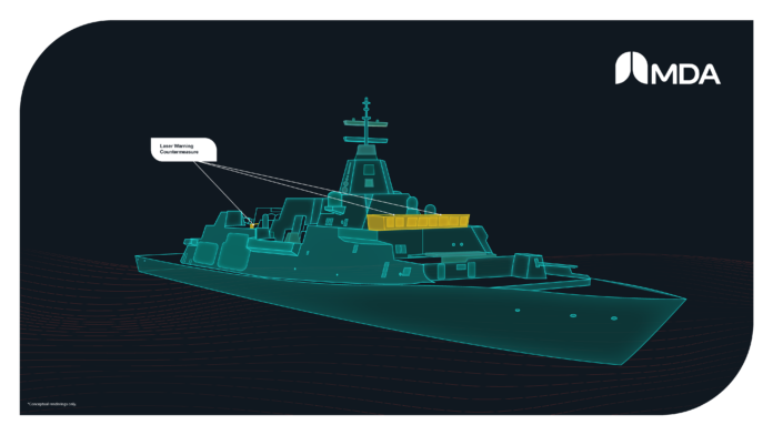 Lockheed Martin Canada has contracted MDA to provide the Laser Warning and Countermeasure (LWCM) System for the Canadian Surface Combatant (CSC) Project (Image: MDA)