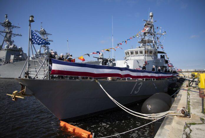 US Navy patrol boat