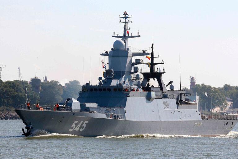 Russian naval assets transit Suez Canal