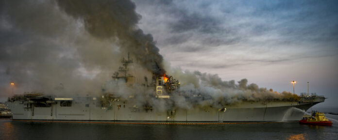 Navy has decided to decommission USS Bonhomme Richard (LHD 6), a Wasp-class amphibious assault ship, due to the extensive damage sustained during the July fire.