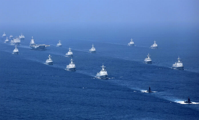 Chinese Navy in Formation (China MOD)
