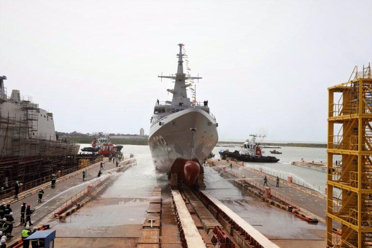 Navantia launches 3rd Avante-2200 class corvette, Hail 832, for the Royal Saudi Naval Forces