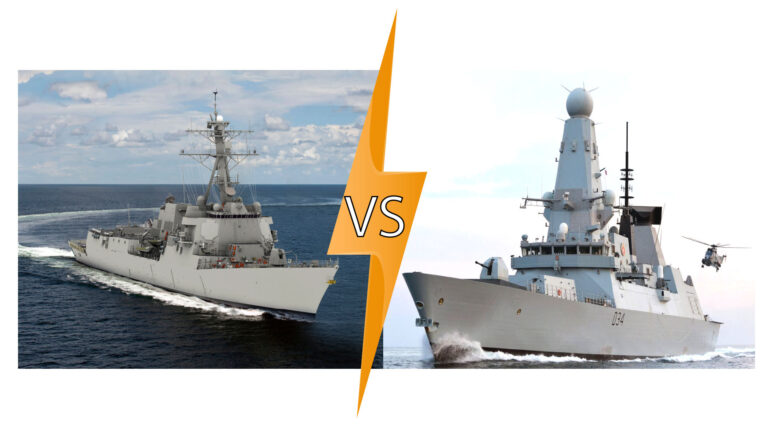 Is the Type 45 British destroyer more capable at Anti-air Warfare than the Arleigh Burke-class destroyer?