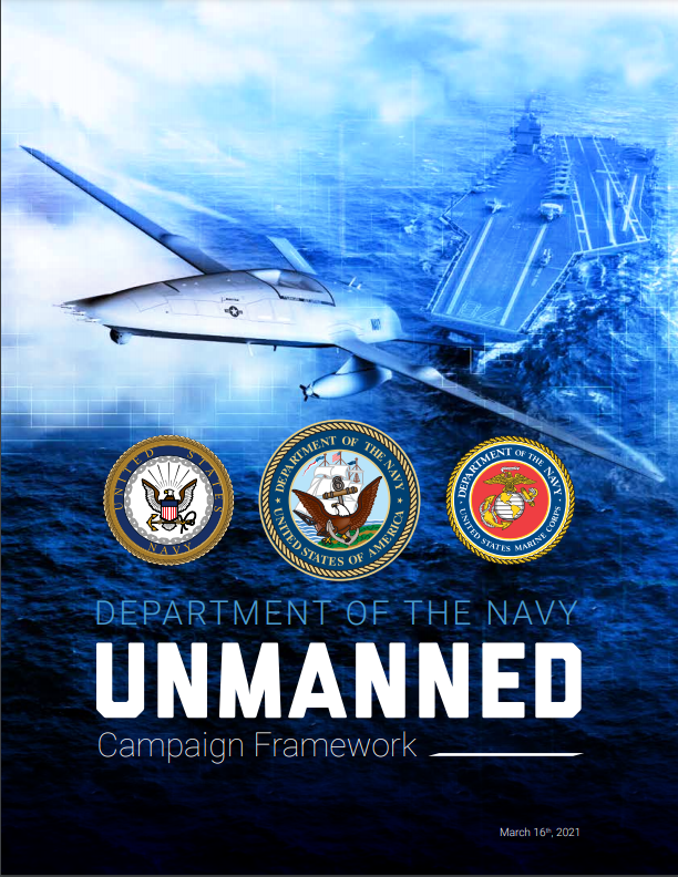 department of navy unmanned campaign framework - naval post- naval news and information
