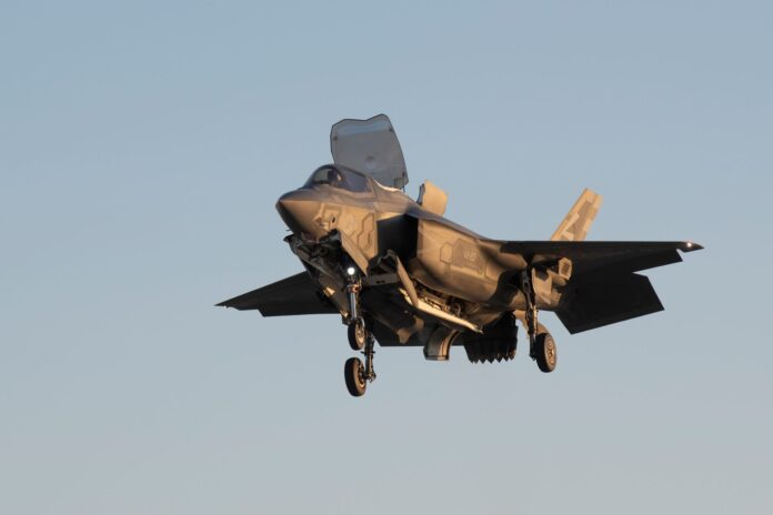 F-35B to conduct ski jump and vertical landings at Naval Air Station Patuxent River, Maryland