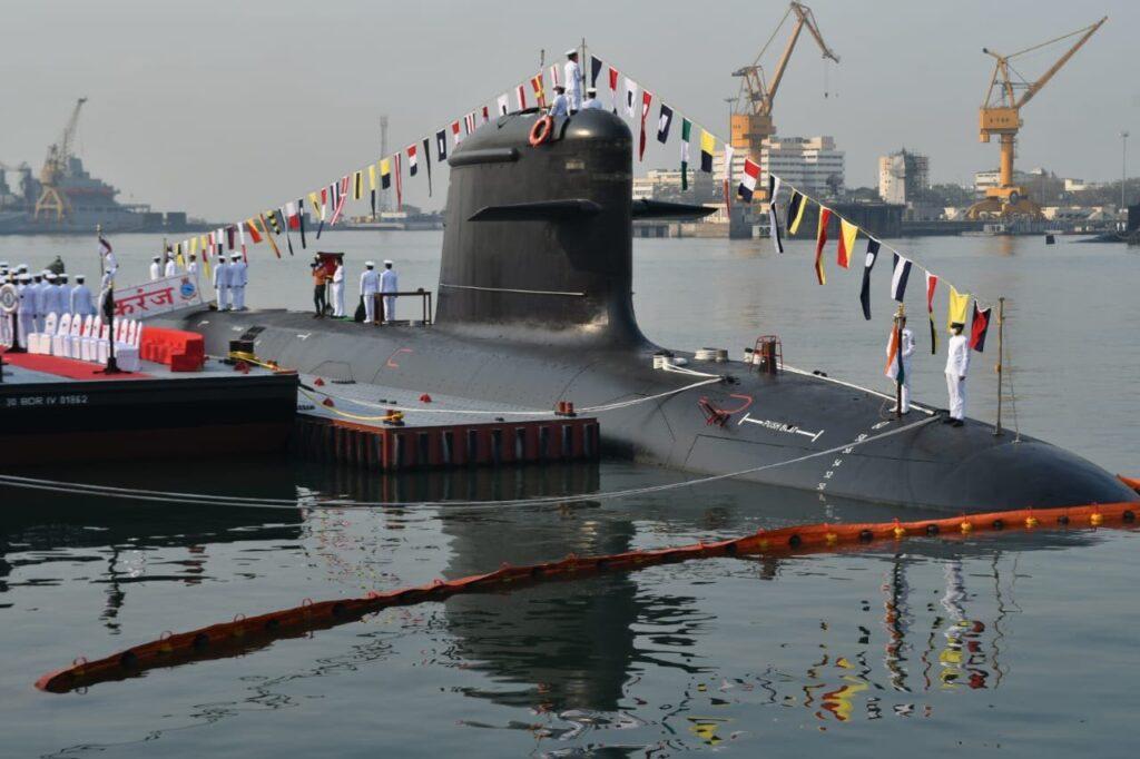 indian navy commissioned the third scorpene class submarine ins karanj