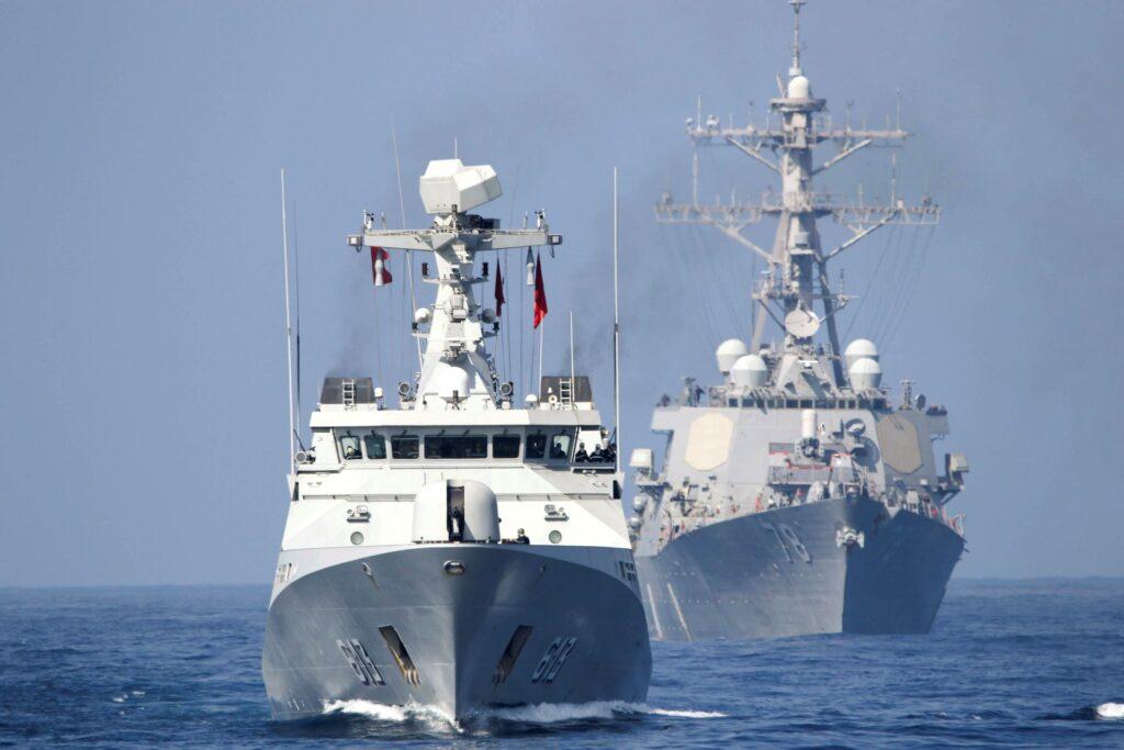 Lightning Handshake Moroccan Navy US Navy - Naval Post