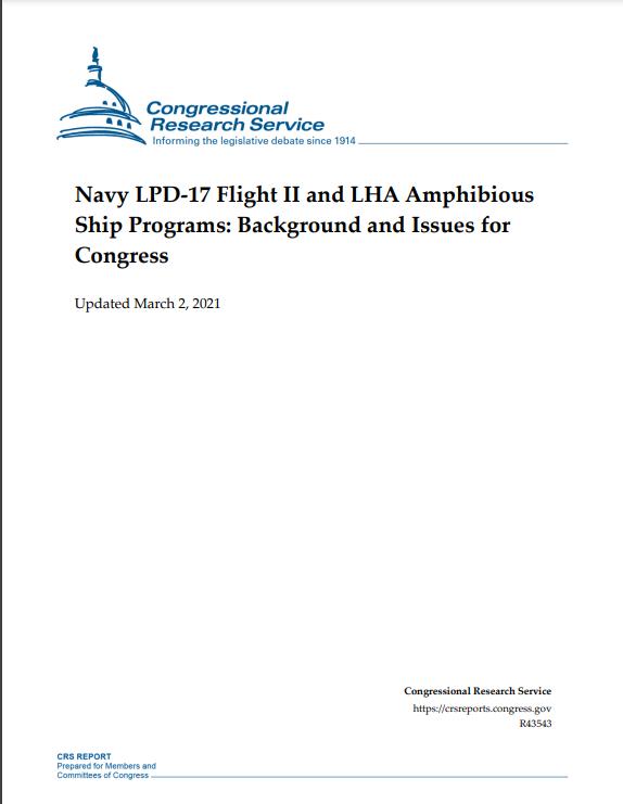Navy LDP 17 Flight II and LHA Amphious Ship Programs - Naval Post