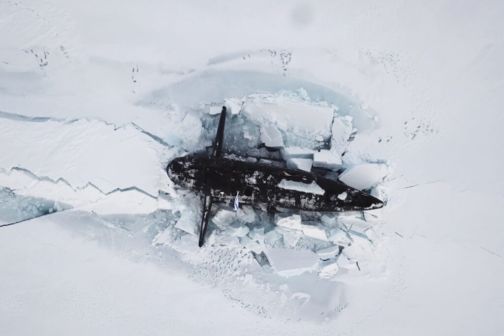 russian submarine surfaced in arctic during umka-21 exercise