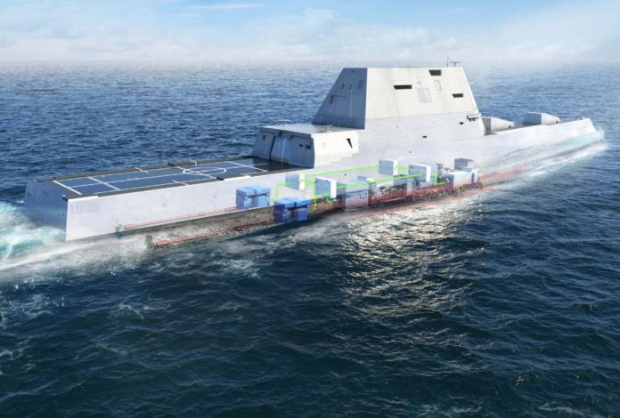 USS Zumwalt DDG 1000 (Image: Rolls Royce)