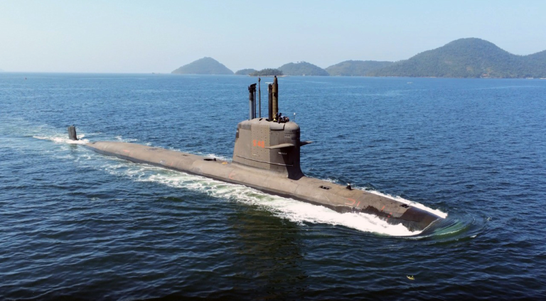 Brazil's newest submarine Riachuelo flooded with saltwater