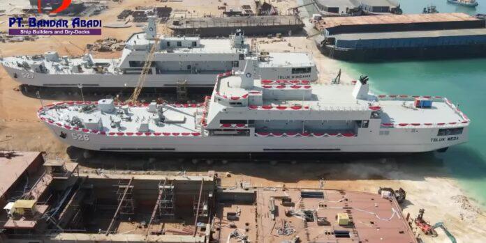 PT Bandar Abadi has launched two Teluk Bintuni-class tank landing ships