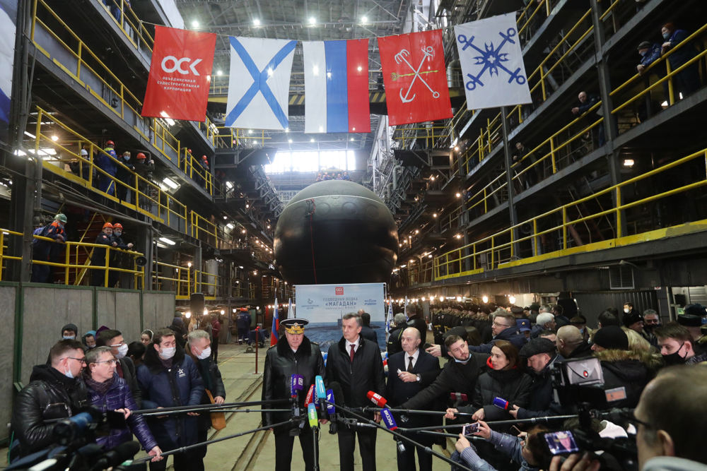 admiralty shipyards launched magadan ssk for the russian pacific fleet
