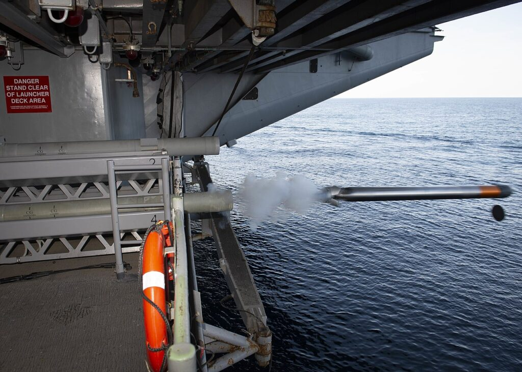 uss dwight d. eisenhower cvn 69 launches an anti torpedo torpedo in the atlantic ocean on 11 august 2019 190811 n qd512 0108 - naval post- naval news and information