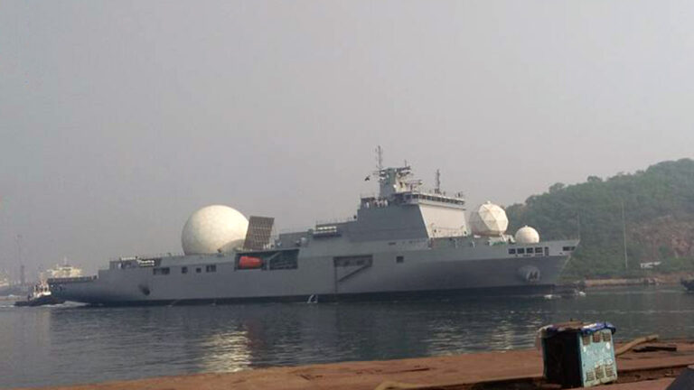 India commissions VC11184 Ballistic Missile Tracking Ship