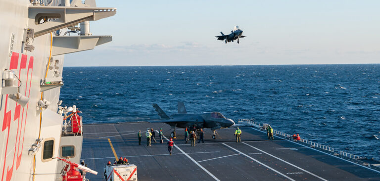 Italian Carrier Cavour completes F35B certification tests