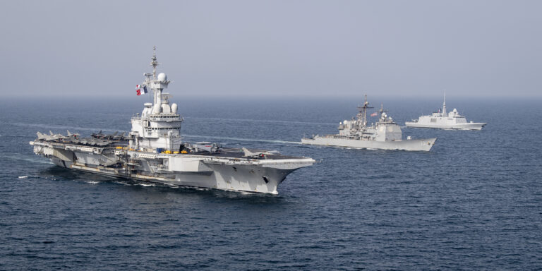Charles de Gaulle CSG participates in GASWEX 21 exercise in the Arabian Sea