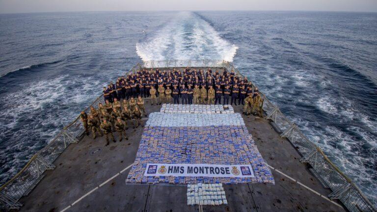 HMS Montrose Seizes Third Drugs Haul in Five Weeks