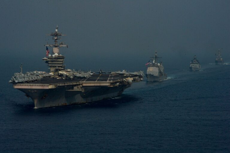 Theodore Roosevelt Carrier Strike Group Conducts Exercise with Indian Navy and Air Force