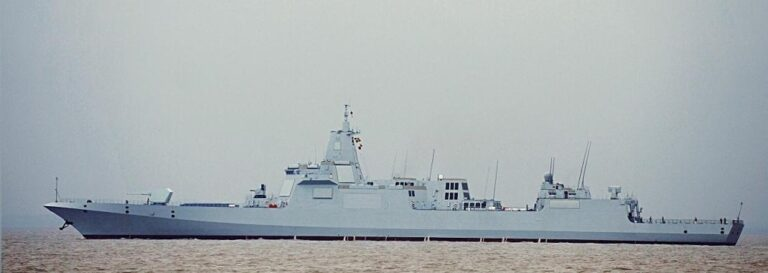 China Commissions Second Type 055 Guided Missile Destroyer, Lhasa (102)
