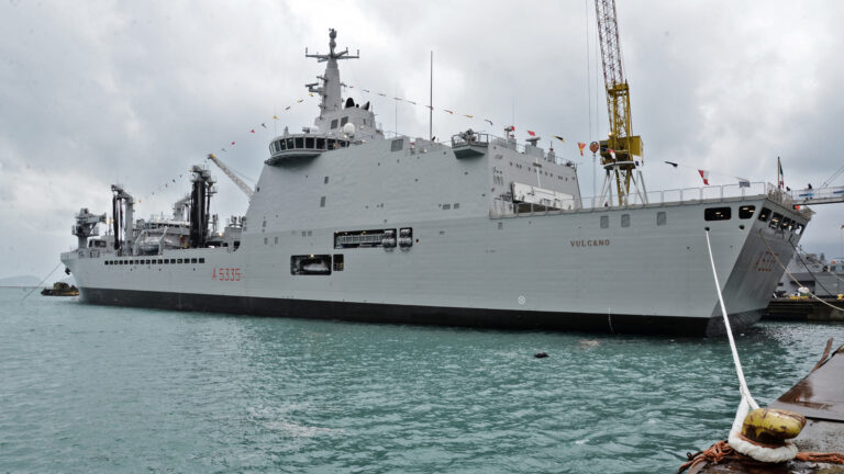Italian Navy commissions Vulcano Logistic Support Ship