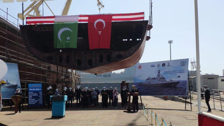 Turkish Shipyard laid the keel of 2nd Milgem-class corvette of Pakistan