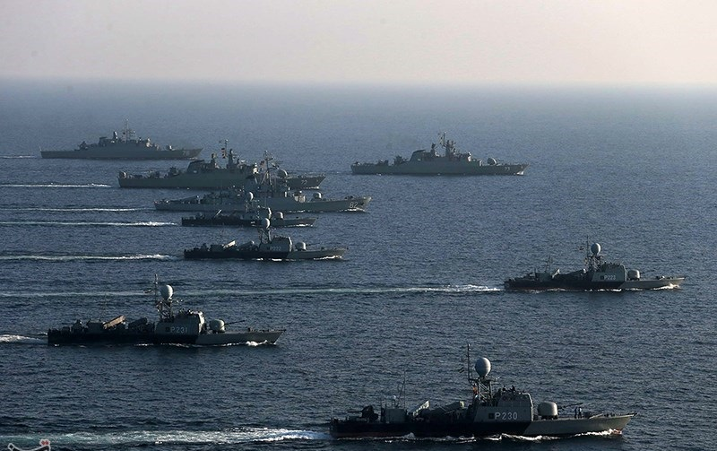 a group of iranian navy - naval post- naval news and information