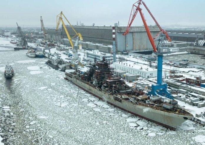Admiral Nakhimov at Shipyard